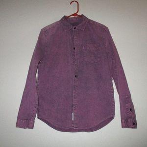 Mishka mnwka Purple acid wash shirt supreme huf sb